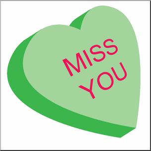 304x304 Clip Art Candy Heart Green Color I Abcteach