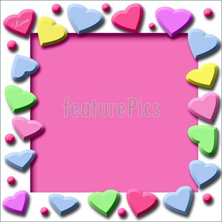 450x450 Border Clip Candy Heart Valentine Hearts Clipart Twwlit Clipart