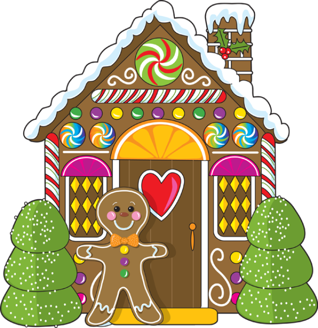 640x660 Collection Of Christmas Candy House Clipart High Quality