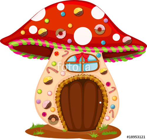 500x479 Mushroom Candy House Stock Image And Royalty Free Vector Files