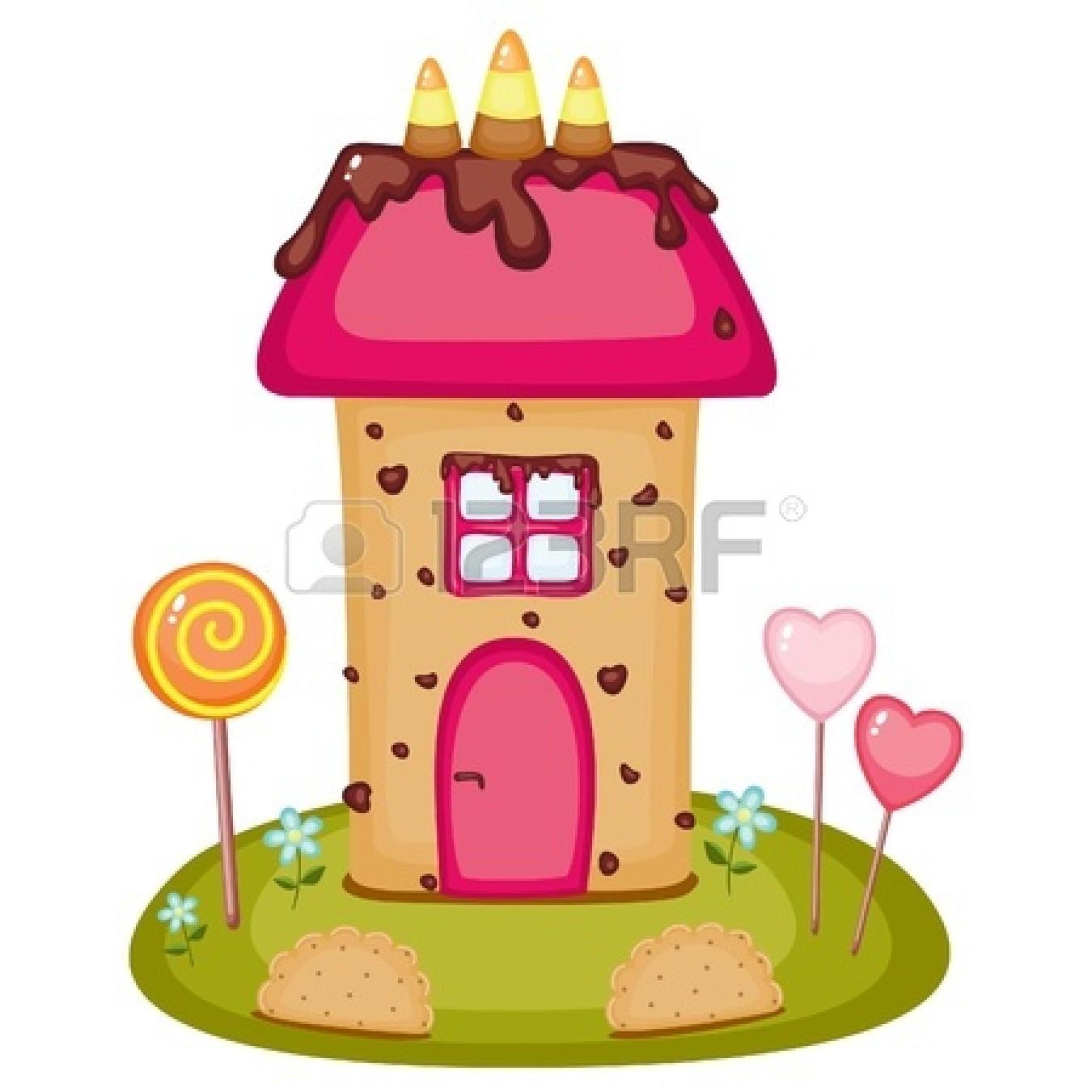 1350x1350 Sugar Cookie Candy House Clipart Panda