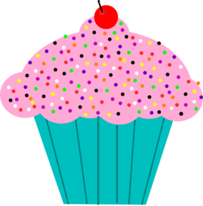 294x299 Candyland Cupcake Clipart