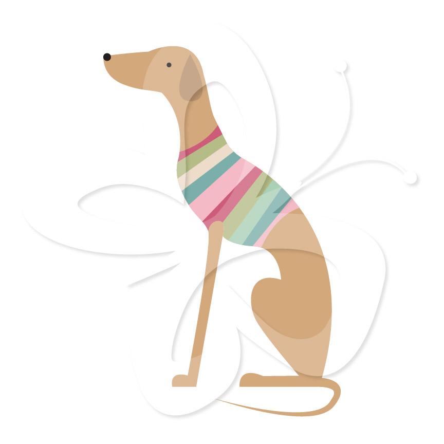 864x864 Greyhound Clipart Art