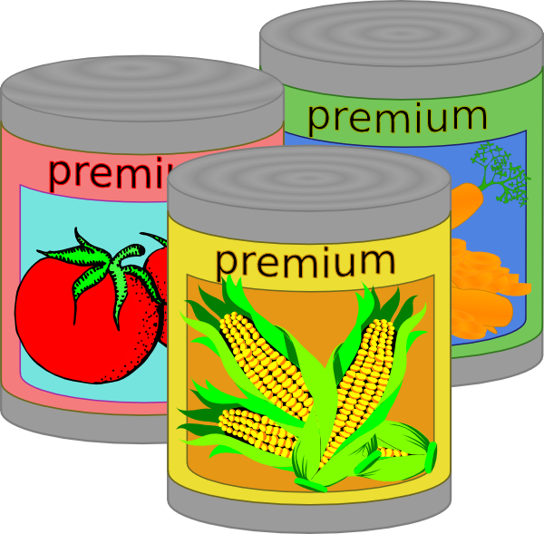 600x589 Canned Food Clip Art