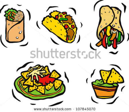 450x392 Clipart Food Mexican