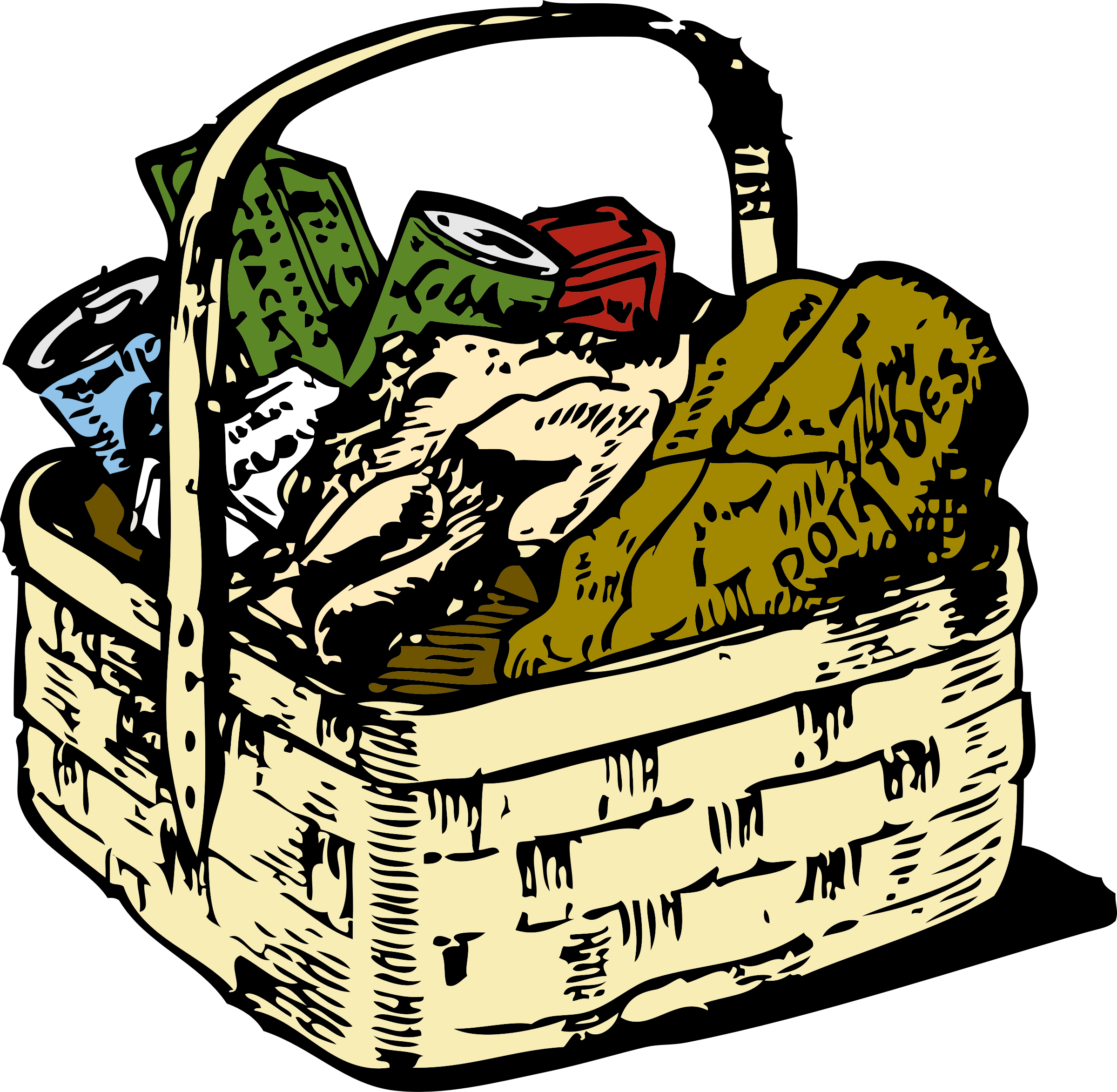 2400x2346 Basket Clipart Basket Food