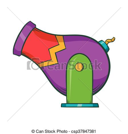 450x470 Circus Cannon Icon, Cartoon Style. Circus Cannon Icon In Vector