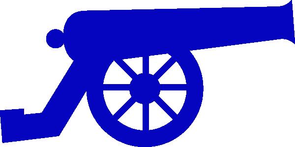 600x299 Blue Canon Clip Art