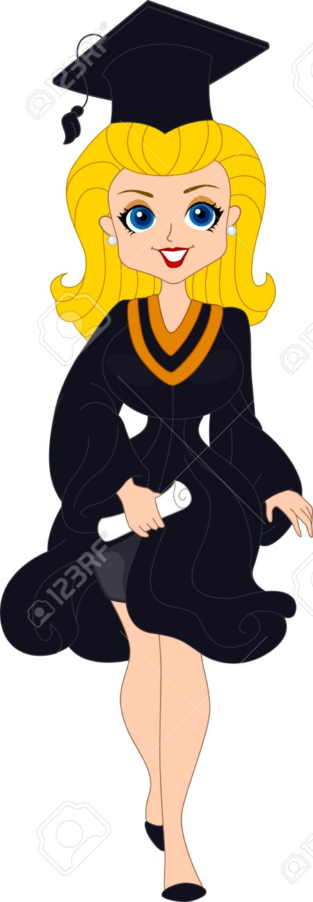 452x1300 Graduation Woman Clipart Collection
