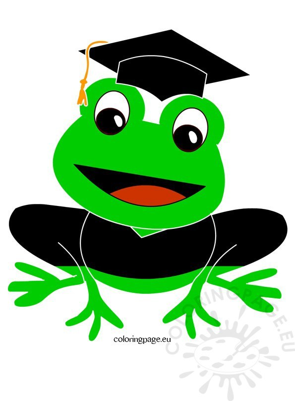 595x808 Child Graduation Clip Art Coloring Page