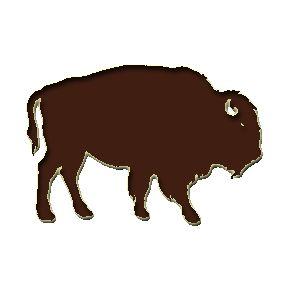 288x288 Buffalo Outline Clip Art