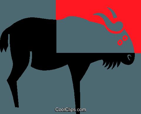 480x388 Cape Buffalo Royalty Free Vector Clip Art Illustration Vc039101
