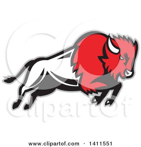 450x470 Clipart Of An African Cape Buffalo Head Over A Scene Of Trees