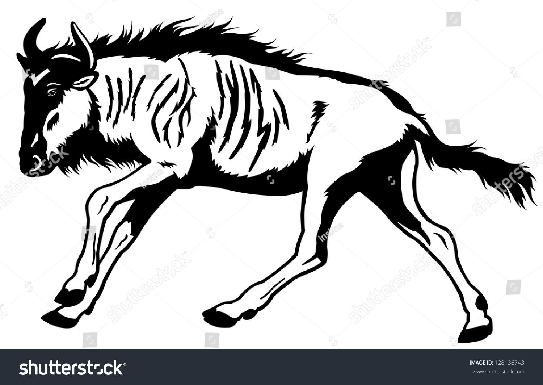 1500x1063 Wildebeest Clipart