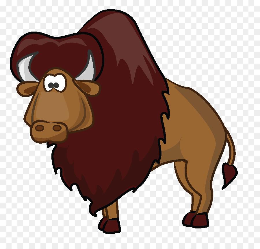 900x860 American Bison Cartoon Clip Art