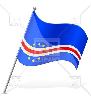 362x400 Cape Verde Wavy Flag Royalty Free Vector Clip Art Image