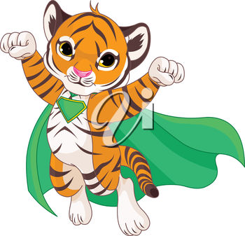 350x337 Clipart Illustration Of A Tiger In A Cape
