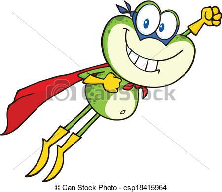 450x388 Frog Superhero Flying Frog Superhero Cartoon Character Clip