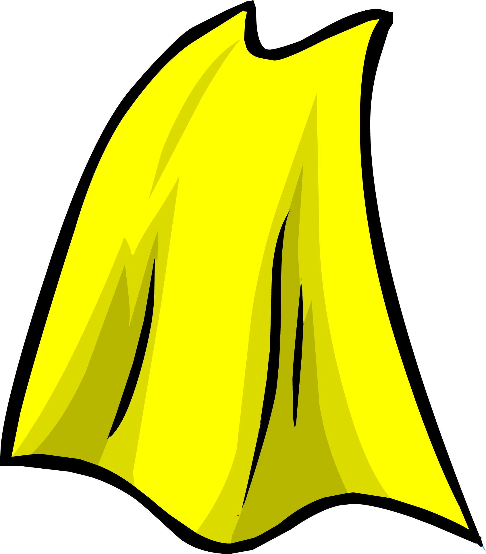 1692x1927 Yellow Cape Club Penguin Wiki Fandom Powered By Wikia