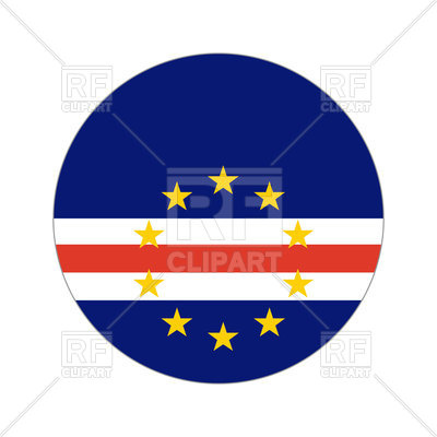 400x400 Cape Verde Circle Flag Royalty Free Vector Clip Art Image