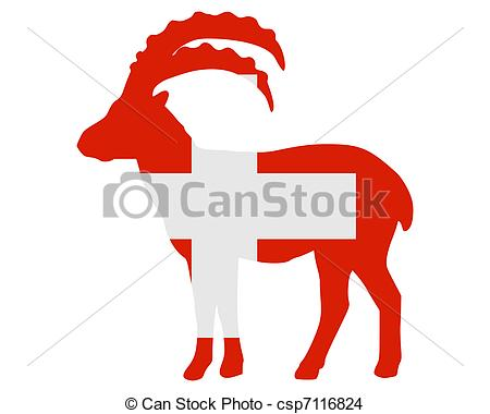 450x380 Flag Of Switzerland With Capricorn Eps Vector