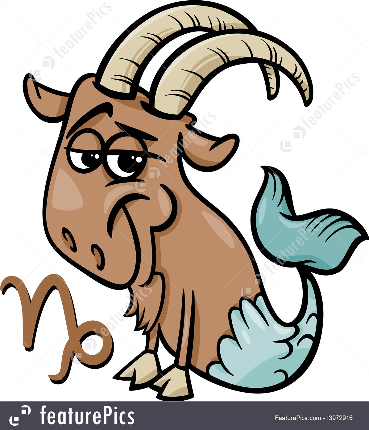 1196x1392 Capricorn Or The Sea Goat Zodiac Sign Illustration