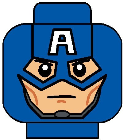 414x454 Captain America Face Clipart