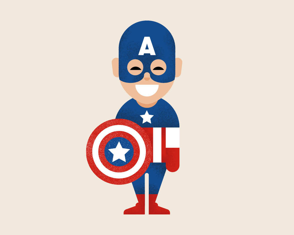 1000x800 Captain America Illustration