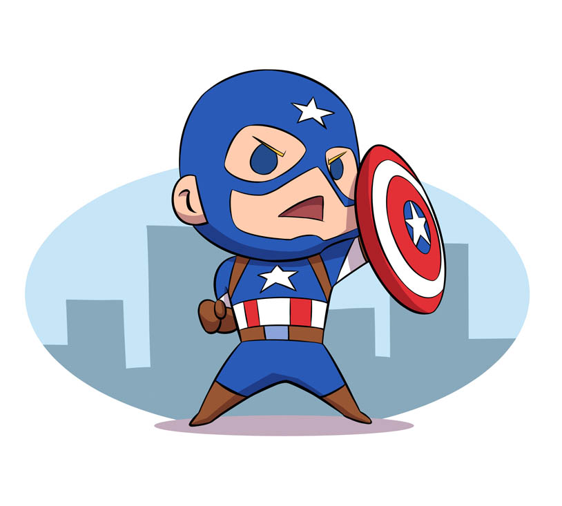 814x733 Chibi Captain Americarobbiecave On Captain America