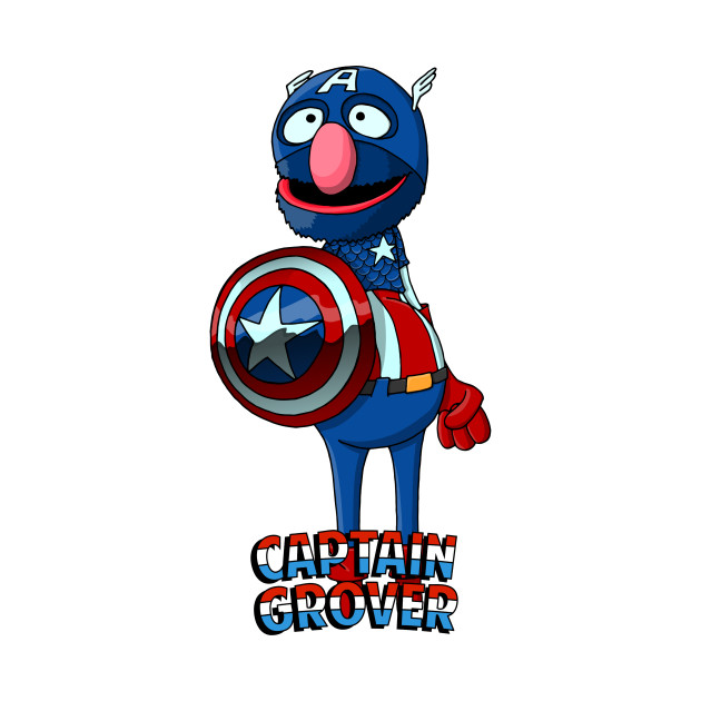 630x630 Grover The Captain America America T Shirt Teepublic Captain
