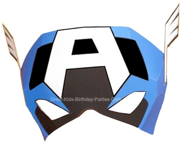 photo regarding Captain America Mask Printable named Captain The usa Brand Clipart at  Free of charge for