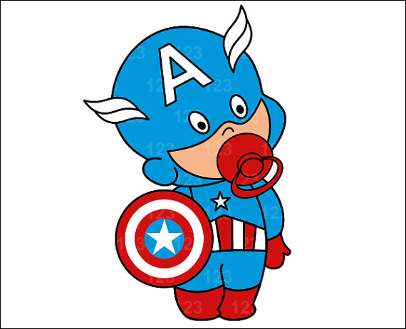 570x462 Baby Clipart Captain America