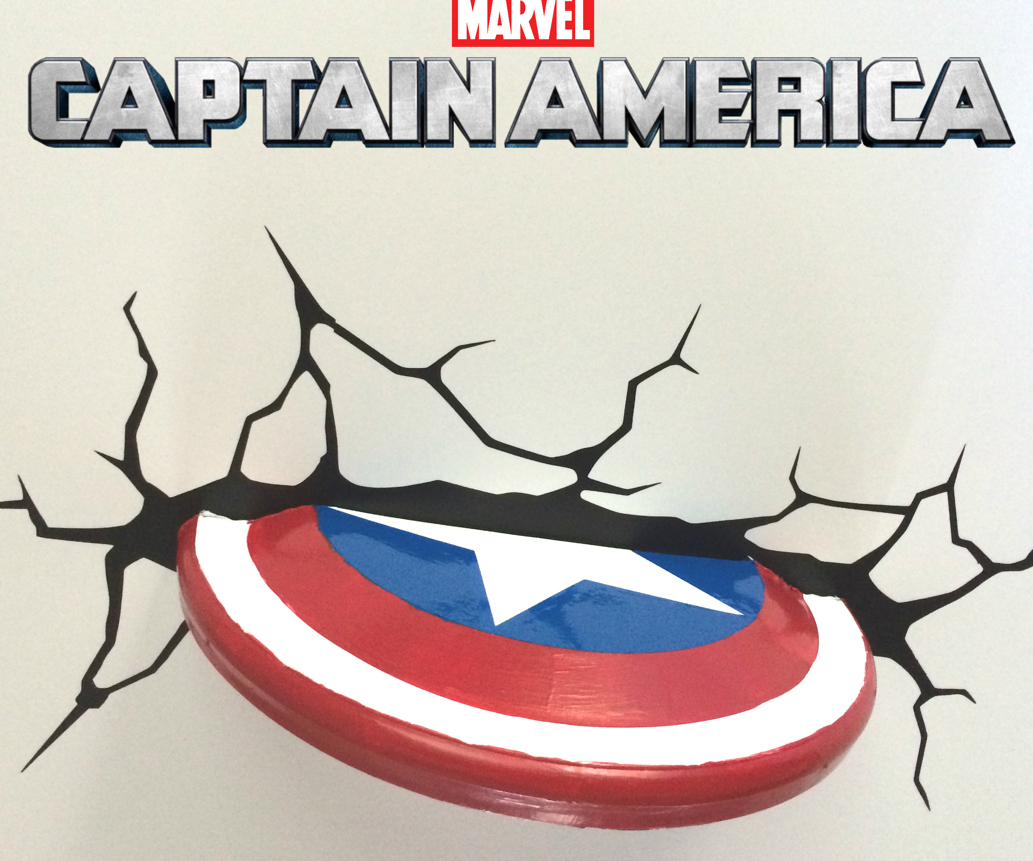 2100x1750 Captain America Shield Wall Decoration