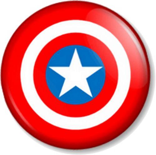 500x498 Captain America S Shield Pin Button Badge