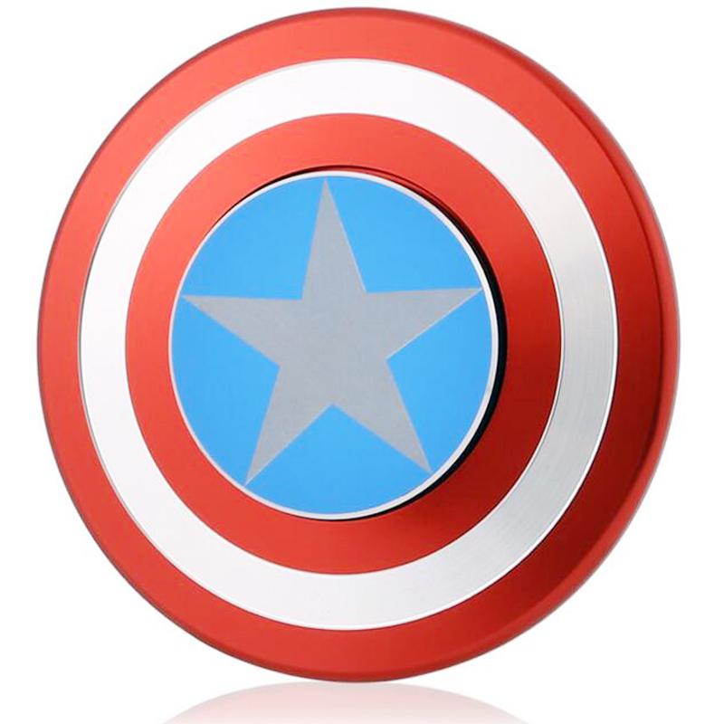 800x800 Fidget Spinner Metal Finger Spinner Captain America Shield Marvel