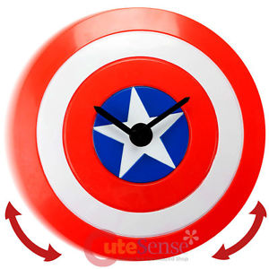 300x300 Marvel Captain America Shield Wobble Clock Wall Clock Moving Watch