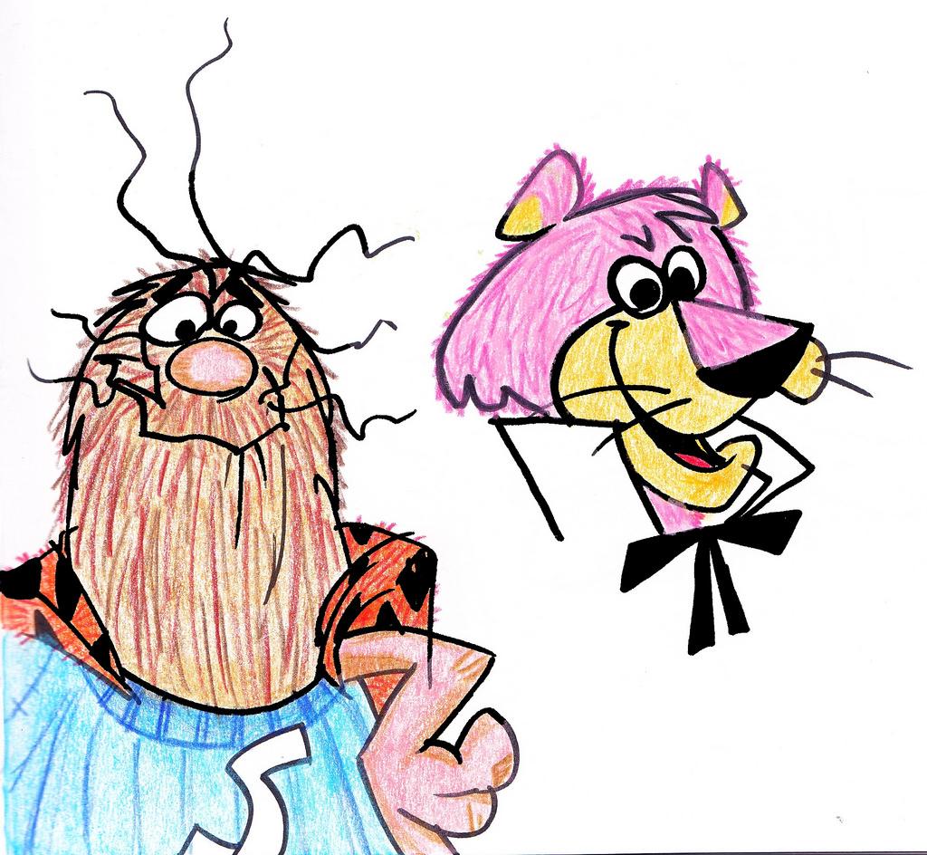 1024x944 Hanna Barbera Random Art Captain Caveman Y Snagglepuss