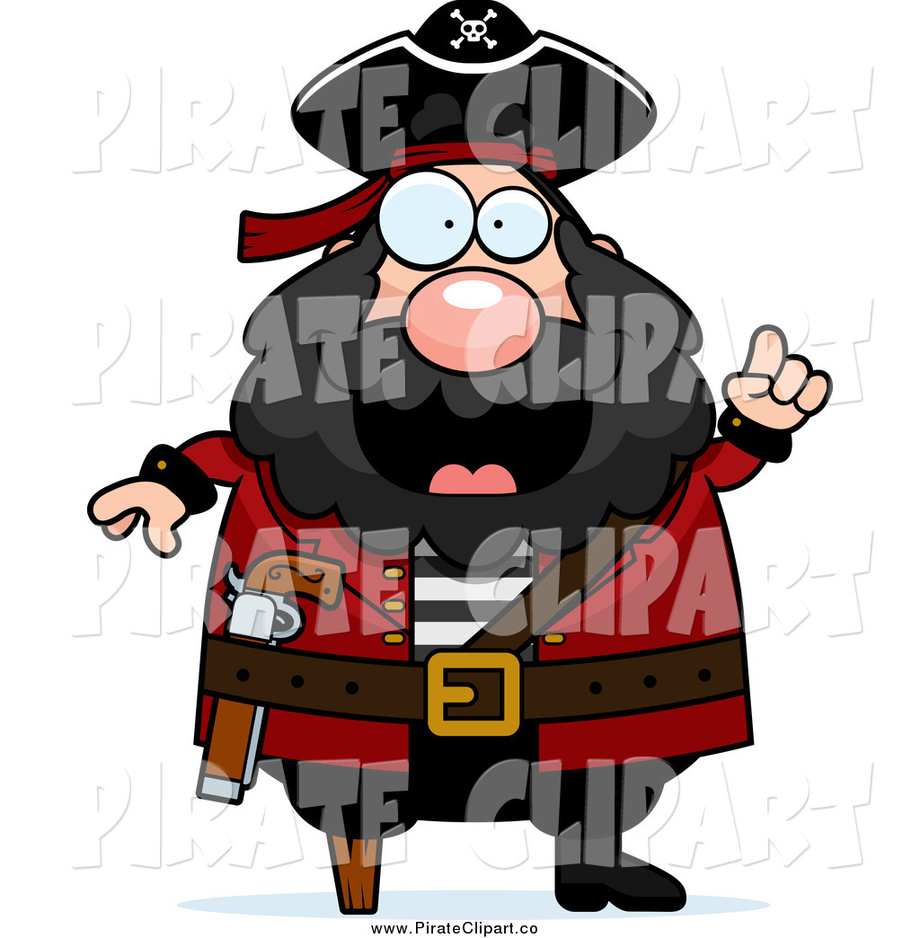 1024x1044 Clip Art Of A Chubby Male Captain Pirate With An Idea By Cory