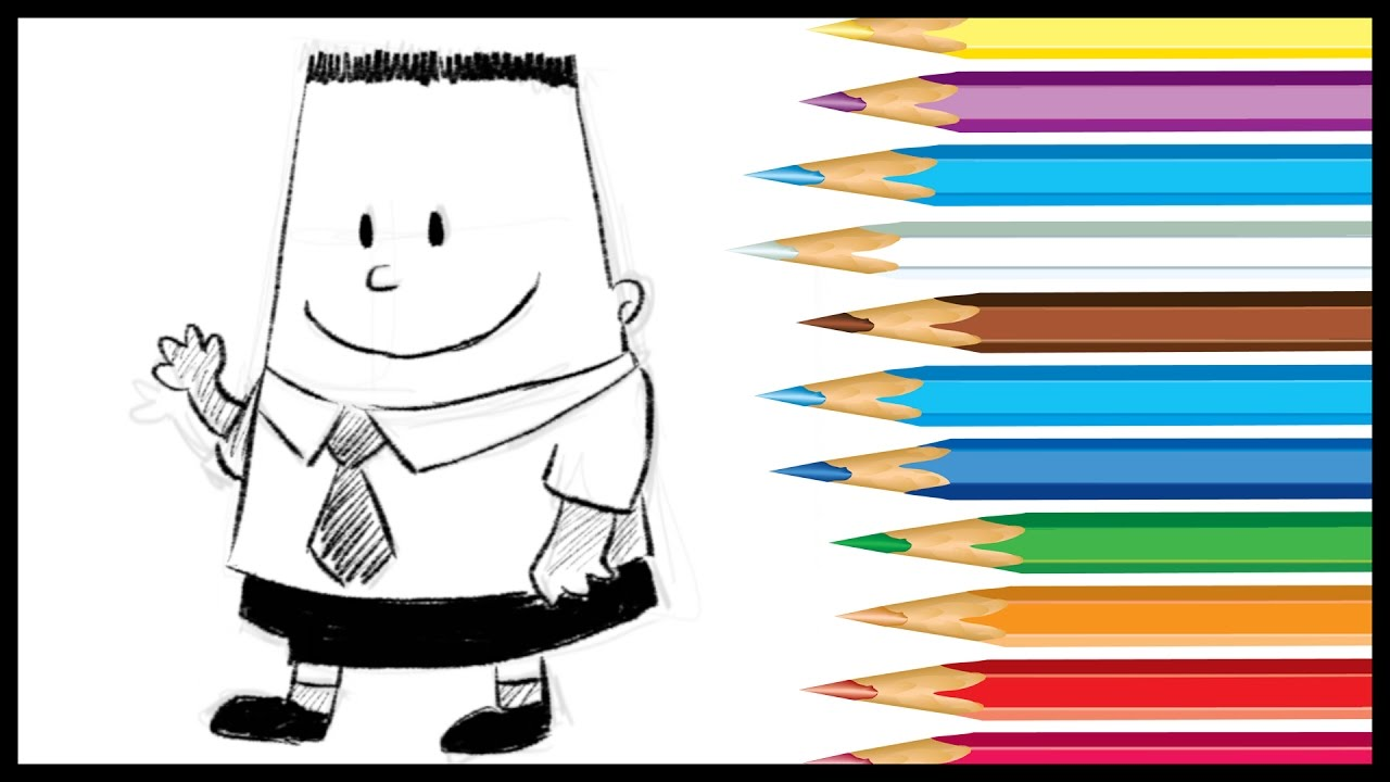 1280x720 How To Draw George Beard From Captain Underpants 2017