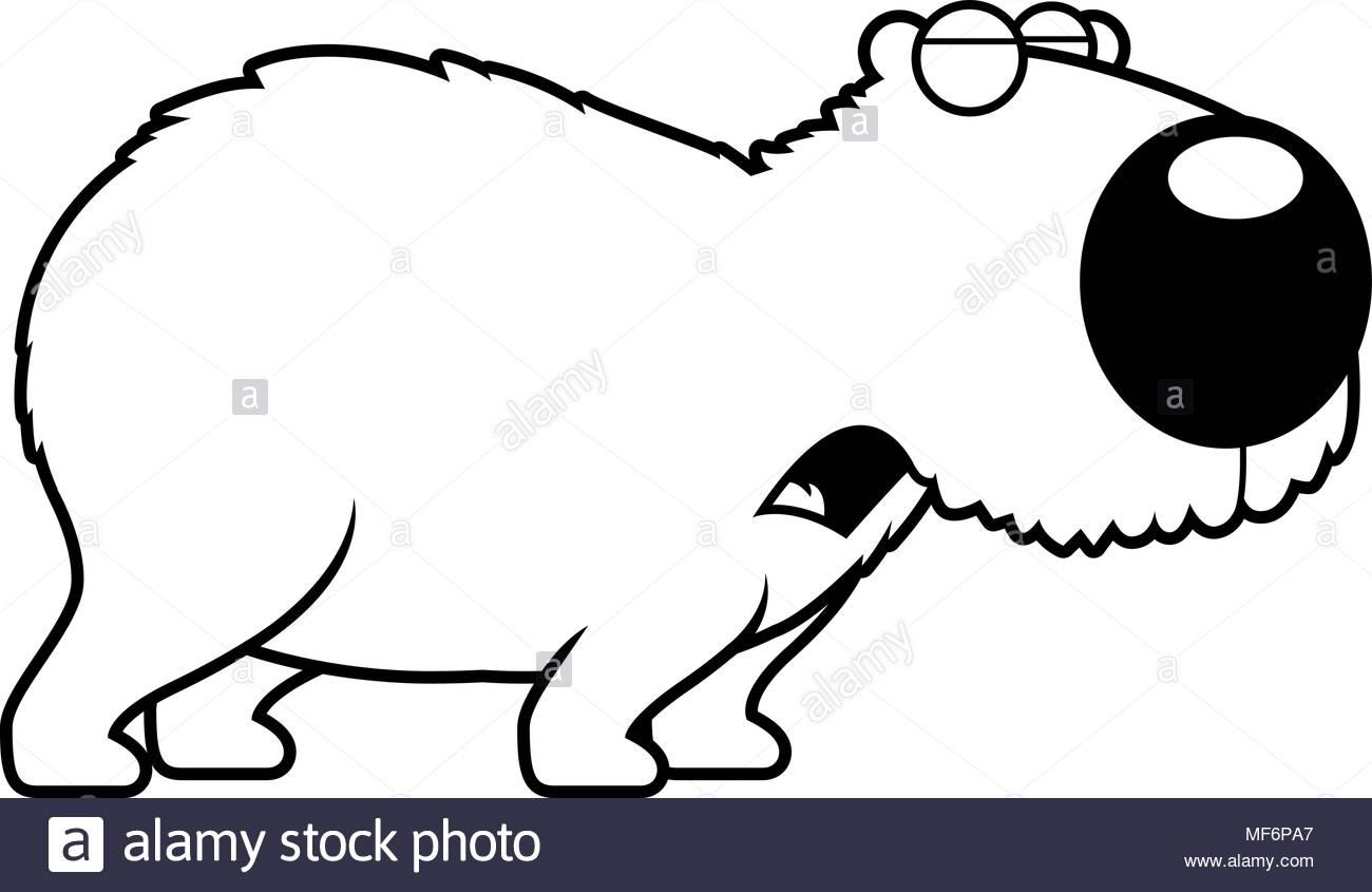 1300x845 A Cartoon Illustration Of A Capybara Howling Stock Vector Art
