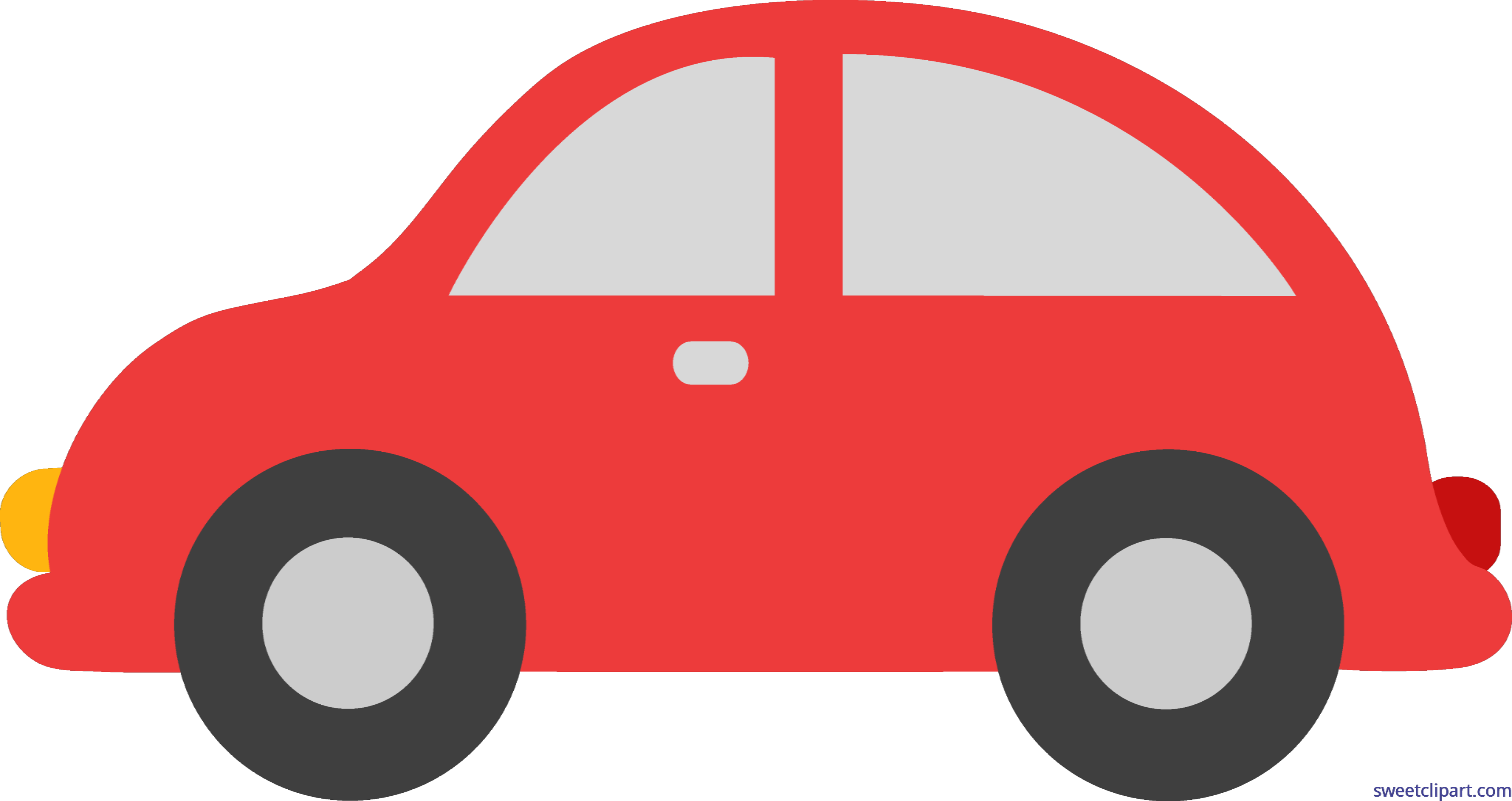 4916x2605 Red Toy Car Clip Art