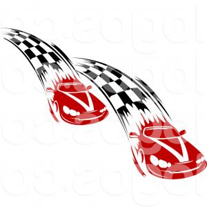 300x300 Car Racing Emblem Wheel In Fire Vector Clipart Geekchicpro
