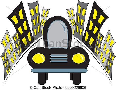 450x352 Car Leaving City