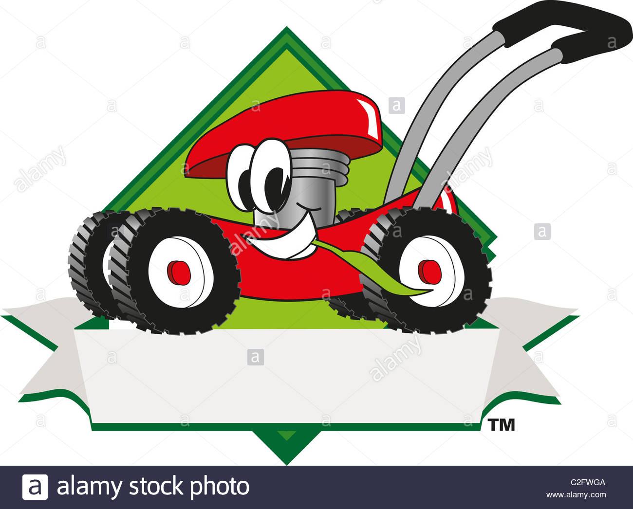 1300x1046 Cartoon Lawn Mower Clip Art And Logo Template Stock Photo