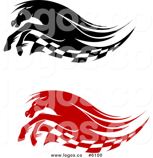 600x620 Royalty Free Clip Art Vector Logos Of Black And Red Running Race