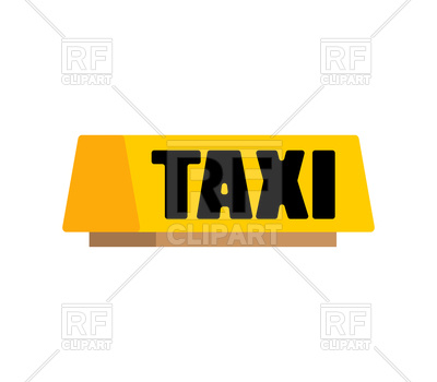 400x350 Taxi Car Light Sign Royalty Free Vector Clip Art Image