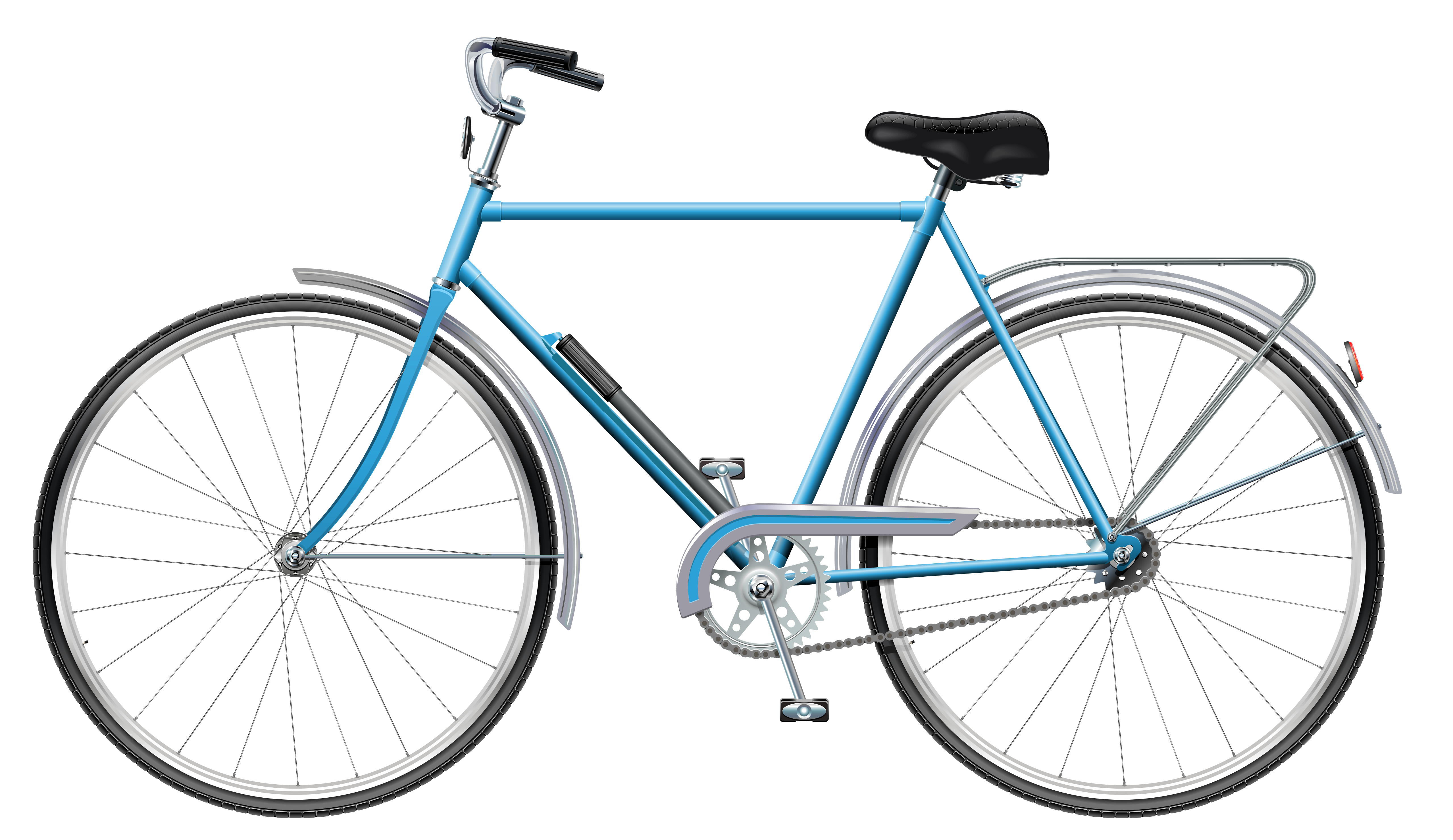 5114x2957 Blue Bicycle Png Clip Art