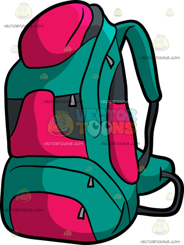 769x1024 Camping Backpack Cartoon Clipart Vector Toons
