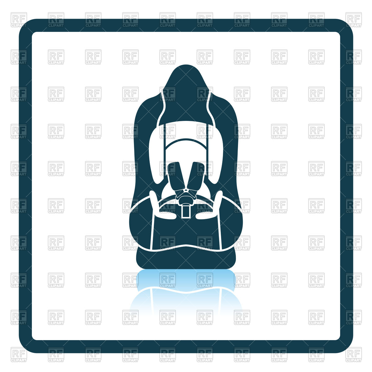 1200x1200 Baby Car Seat Icon Royalty Free Vector Clip Art Image