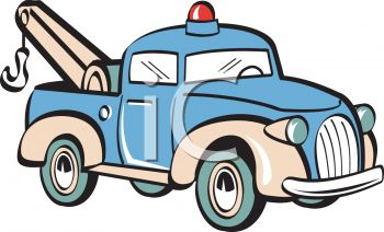 350x212 Royalty Free Clip Art Image Vintage Toy Tow Truck